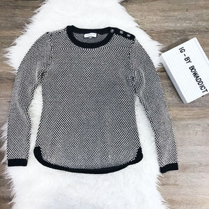 [Charter Club] Petite Button Shoulder Sweater